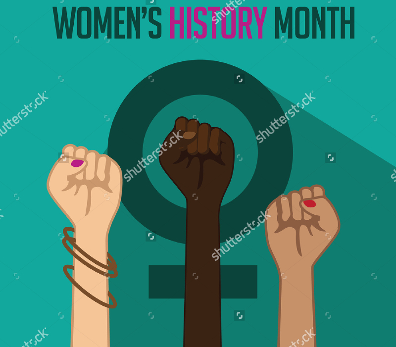 Vectorl-Illustration-of-Womens-History-Month-Design