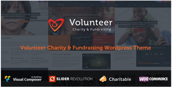 Volunteer - CharityFundraising WordPress Theme