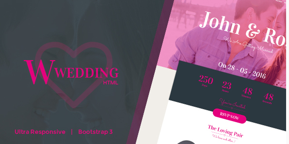 W-Wedding - Responsive Bootstrap Wedding Template