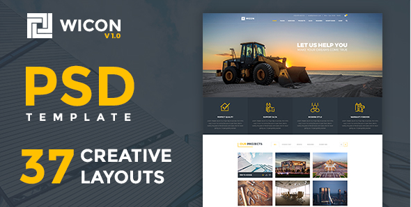 WICON  Construction & Building PSD