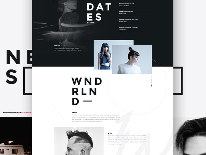 WNDRLND Web Mock Up by Visual Soldiers