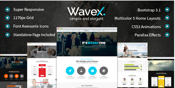 WaveX - One Page Parallax