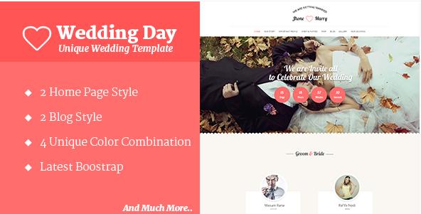 Wedding Day - Wedding HTML Template