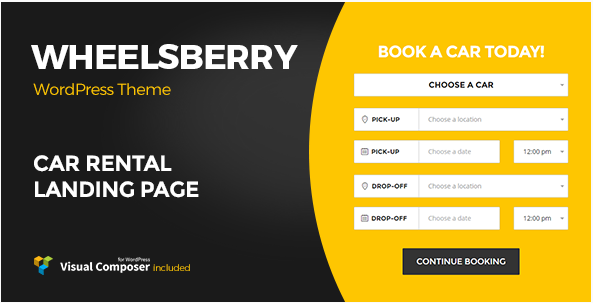 Wheelsberry – Car Rental WordPress Theme