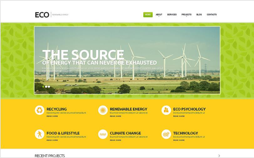 Wind Energy Responsive WordPress Theme