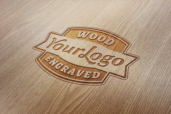 Wood Textured Mockup PSD