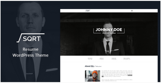 WordPress Resume Theme - Squareroot