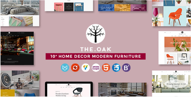 WordPress WooCommerce Theme for Furniture Decoration Design eCommerce Store