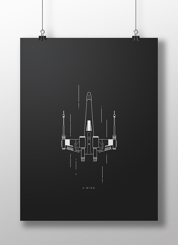 X-Wing poster