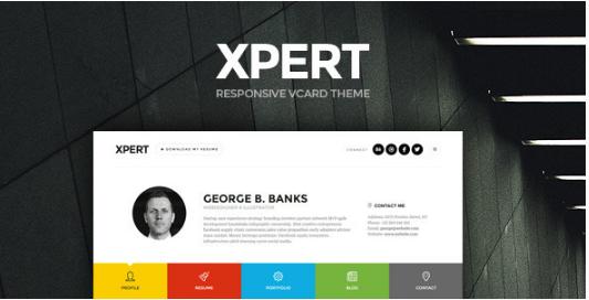 Xpert - Responsive CV Resume WordPress Themes