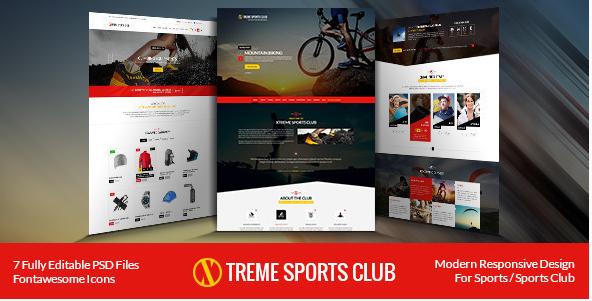 Xtreme Sports Club - HTML Template