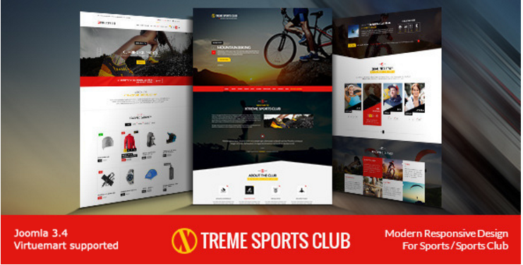 Xtreme Sports Club - Joomla Template