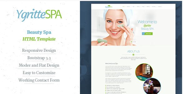 Ygritee Spa- Beauty Salon HTML Template