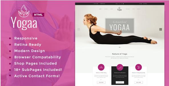 Yogaa - Health & Yoga Template