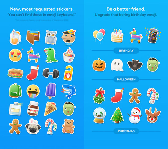 Amazing iMessages Sticker Packs For iOS10