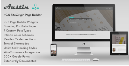 austin WordPress Themes For Designers
