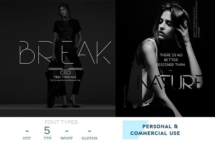 break-font-for-flyer-design