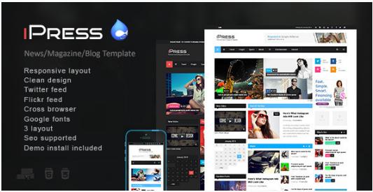 iPress - Responsive NewsMagazine Drupal theme