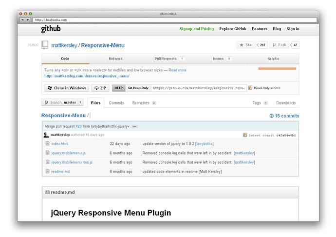 jQuery Responsive Menu Plugin