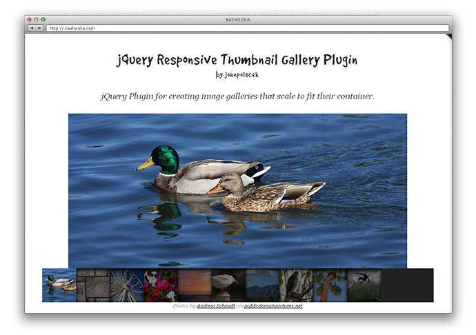 jQuery Responsive Thumbnail Gallery Plugin
