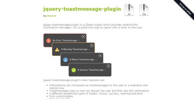 jquery-toastmessage-plugin