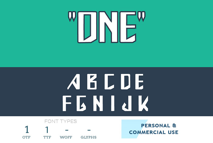 one-truetype-font