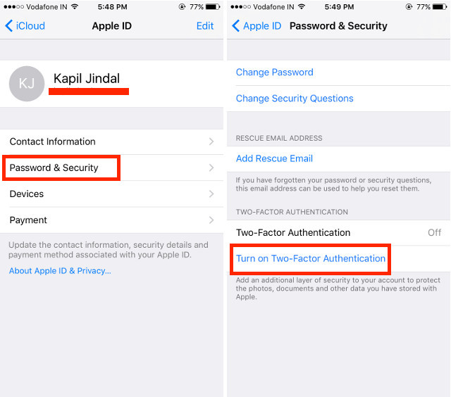 password-and-security-iOS
