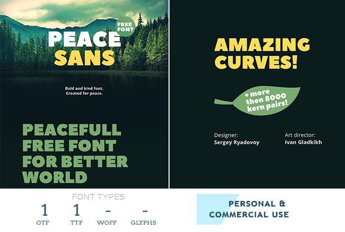 peace-sans-best-font