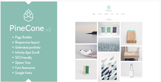 pine cone WordPress Themes For Designers