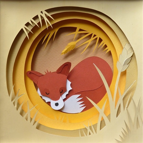 red-fox-paper-cut