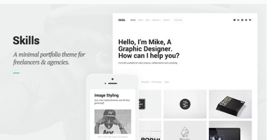 skills WordPress Themes For Designers