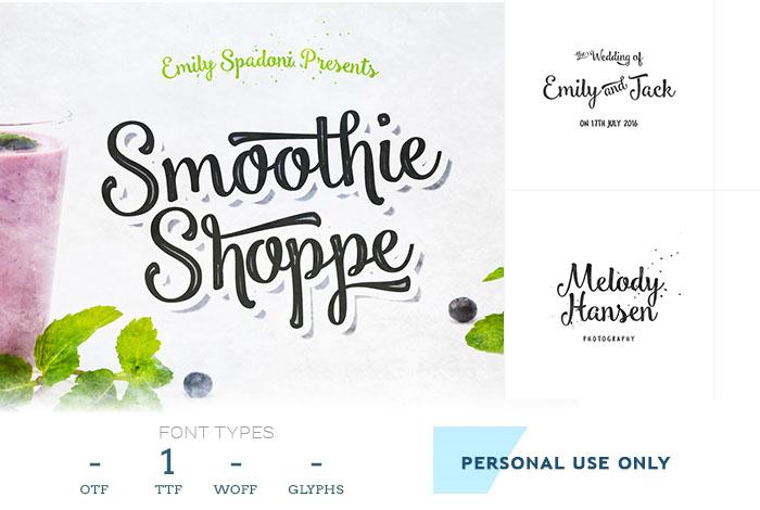 smoothie-script-font