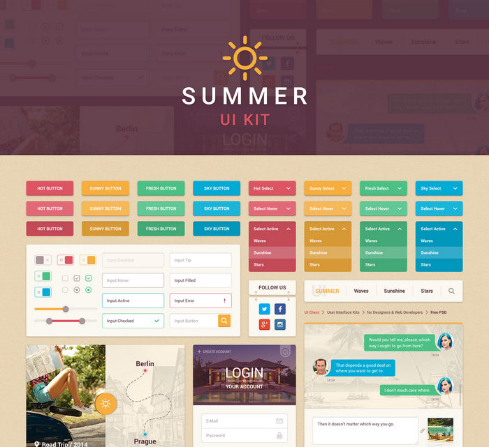 summer-ui-kit-free
