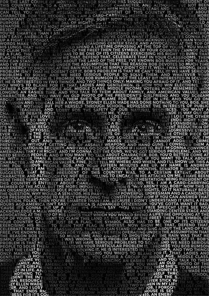 text-portrait