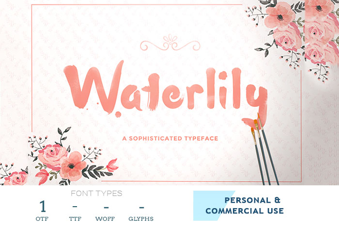 waterlilly-font