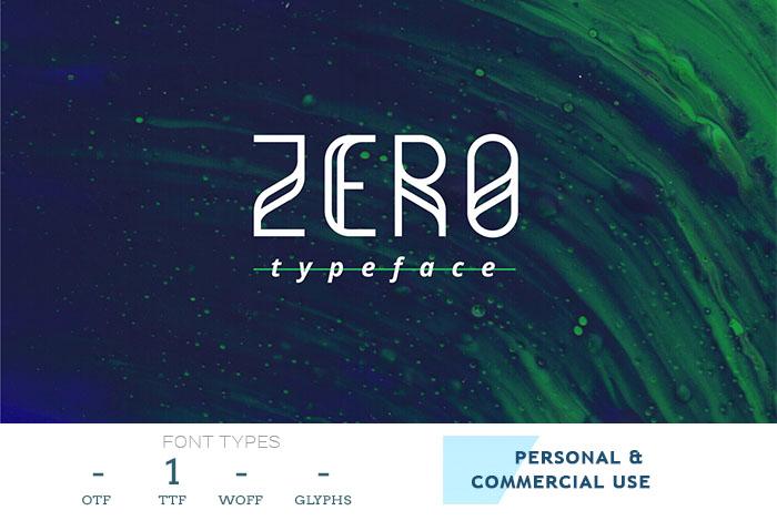 zero-geometric-typeface-font