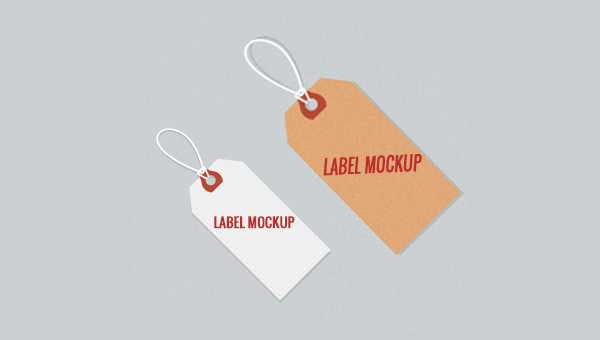 2 Free PSD Tag Label Mockup