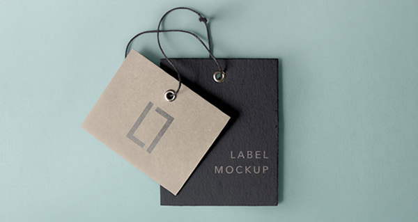 2 Label Tags Mockup PSD