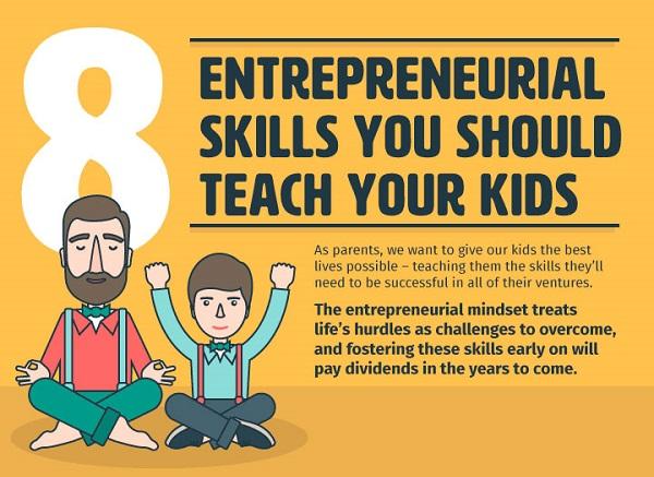 8 entrepreneurial skills you should teach their kids