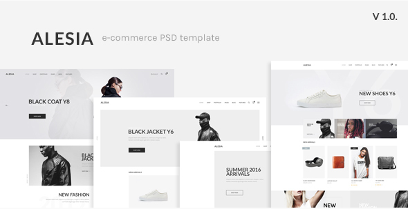 ALESIA - eCommerce PSD Template