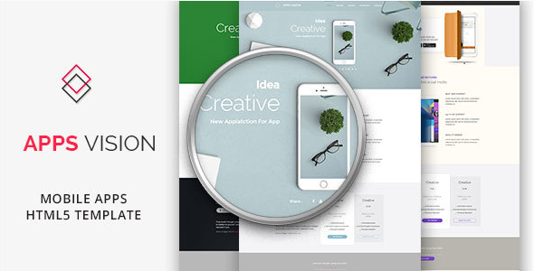 APPSVISION - Mobile App Landing Page - HTML Template