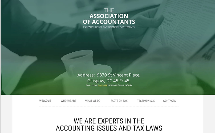 Accountant General Website Template