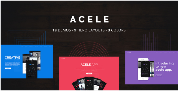 Acele - App, Game, Product HTML Template