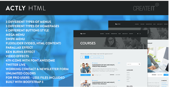 Actly - Educational Responsive HTML Template