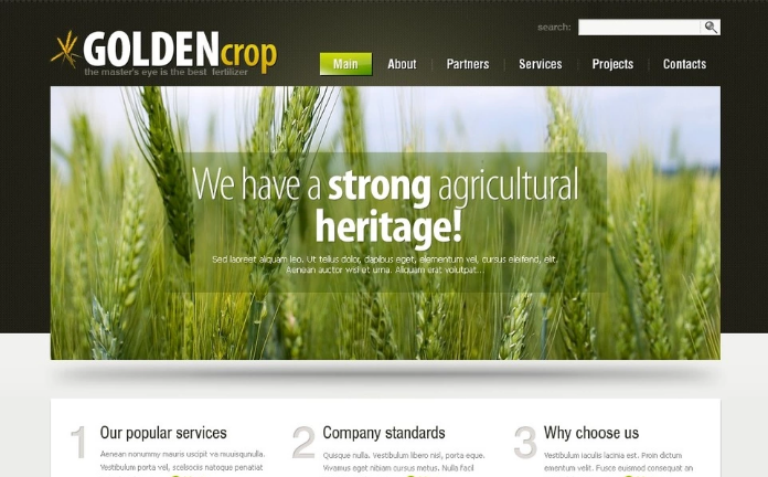 Best Agriculture PSD Design Templates