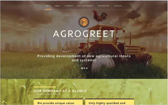 Best Agriculture HTML Website Themes