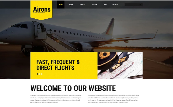 Airons Website Template