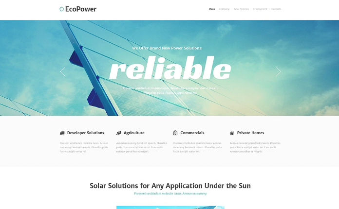 Alternative Power Responsive Website Template