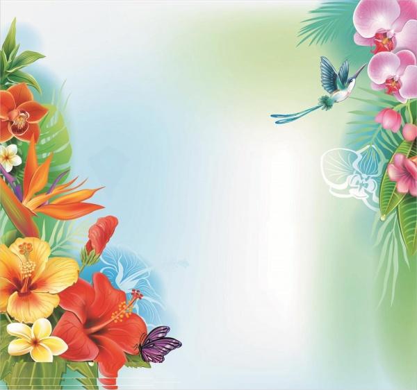 Amazing-Tropical-Flower-Background