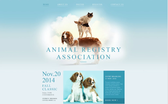 Animal Registry Association Website Template